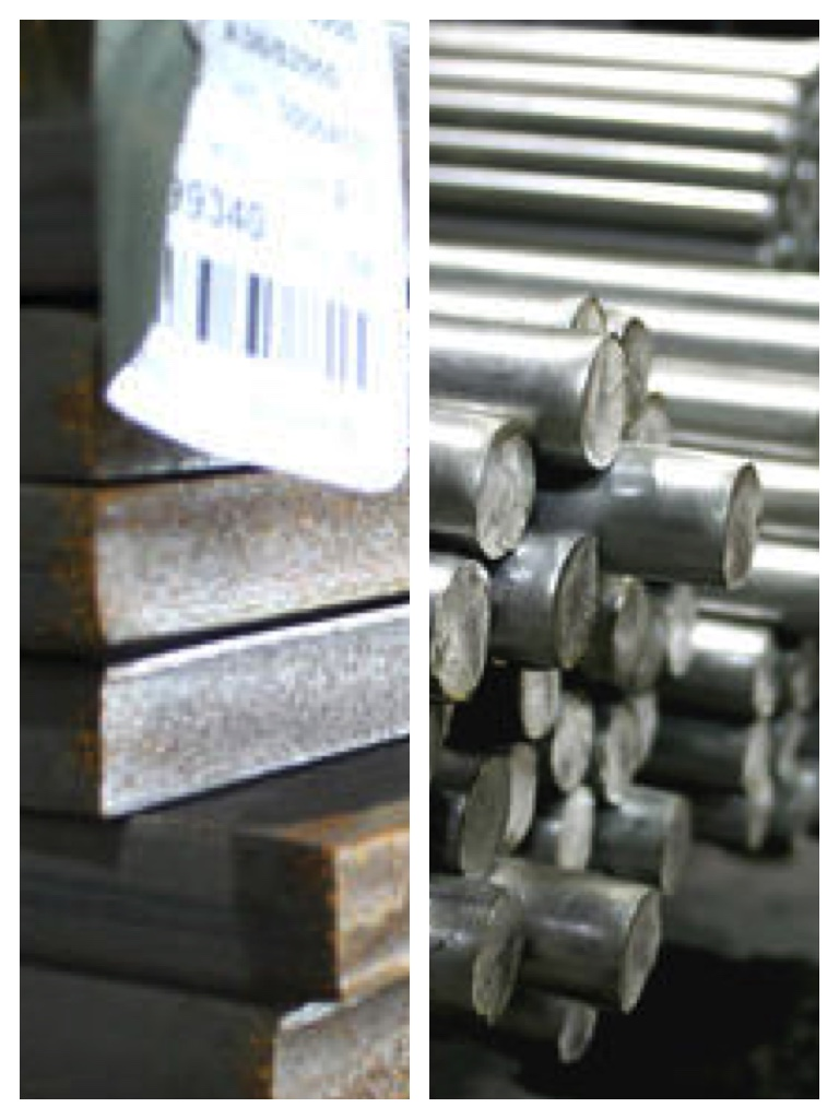 Hot rolled and cold drawn carbon steel bars